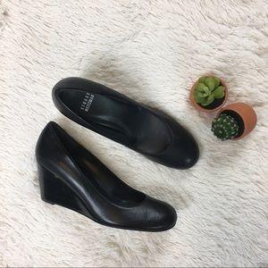 Stuart Weitzman• Leather Wedge Career Shoes Black